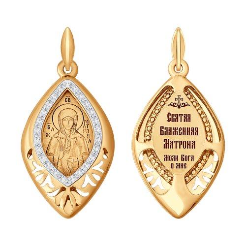 Золотая иконка «Святая блаженная Матрона Московская» SOKOLOV золотая иконка