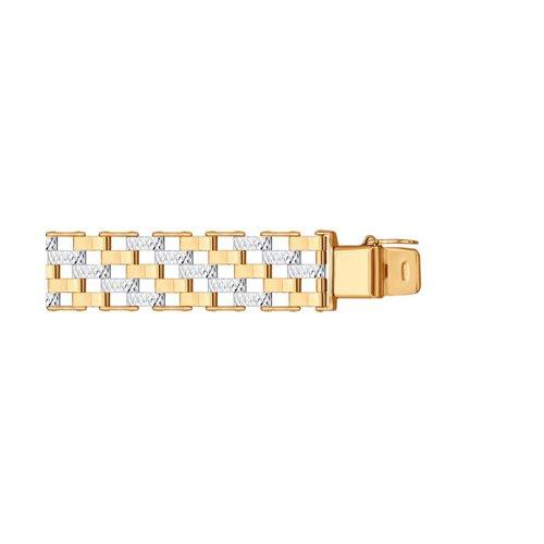 Браслет из золота с алмазной гранью (050653) - фото