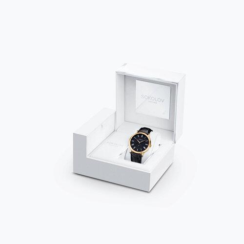 Мужские золотые часы (209.02.00.000.02.01.3) - фото №4