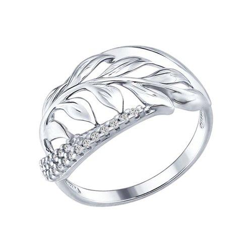 Кольцо «Веточка» из серебра