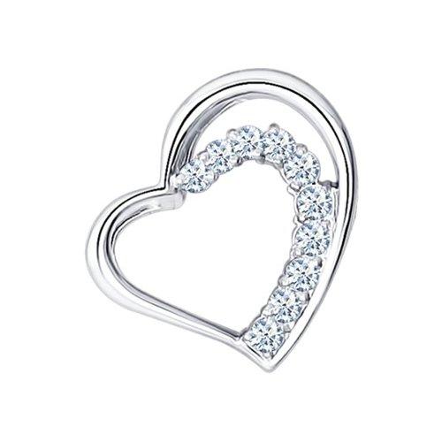 подвеска цветок с 22 бриллиантами из белого золота Подвеска SOKOLOV из белого золота с бриллиантами