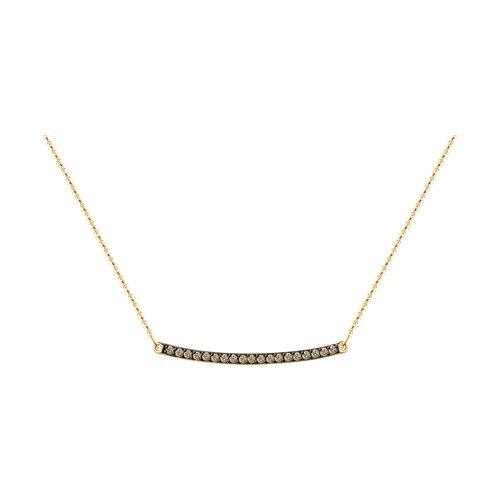 Колье из золота с коньячными бриллиантами (1070110) - фото