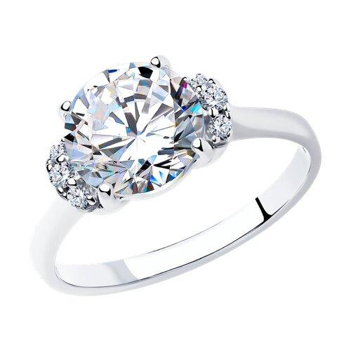 Кольцо из серебра с фианитами (89010018) - фото