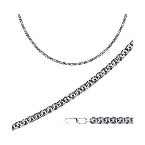 Цепь SOKOLOV из чернёного серебра с алмазной гранью фото