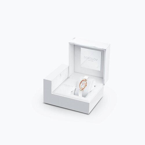 Женские золотые часы (236.01.00.100.03.02.2) - фото №4