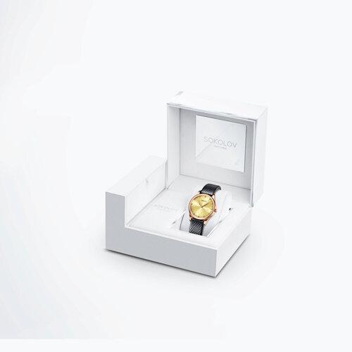 Женские золотые часы (238.01.00.000.09.01.2) - фото №4