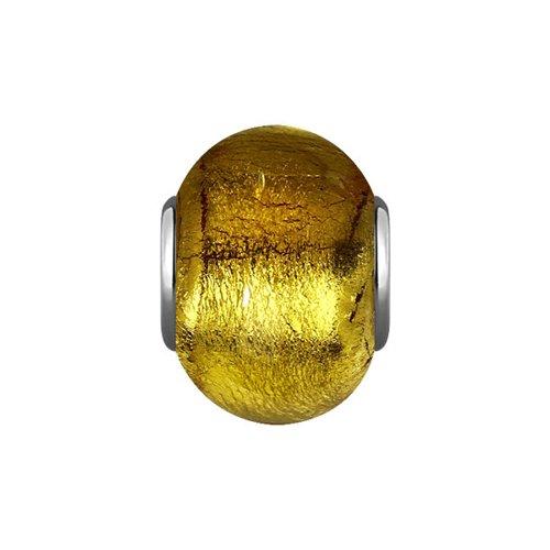 Подвеска-шарм, Золотое муранское стекло цена 2017