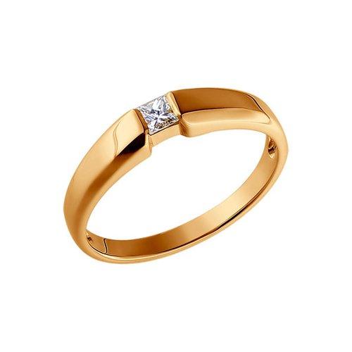 Золотое помолвочное кольцо с бриллиантом SOKOLOV