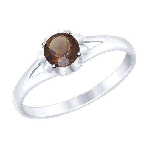 Кольцо из серебра с раухтопазом (92011511) - фото