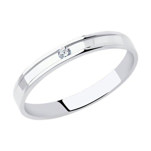 Кольцо из белого золота с бриллиантом (1112298-01) - фото