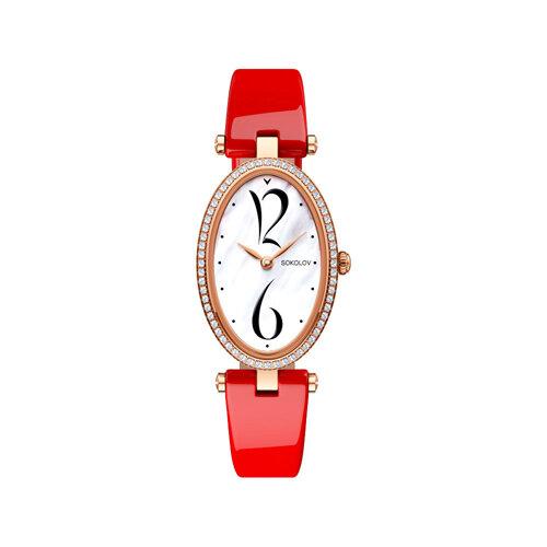 Женские золотые часы (236.01.00.100.05.06.2) - фото №2