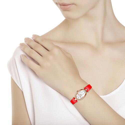 Женские золотые часы (235.01.00.000.03.03.2) - фото №3