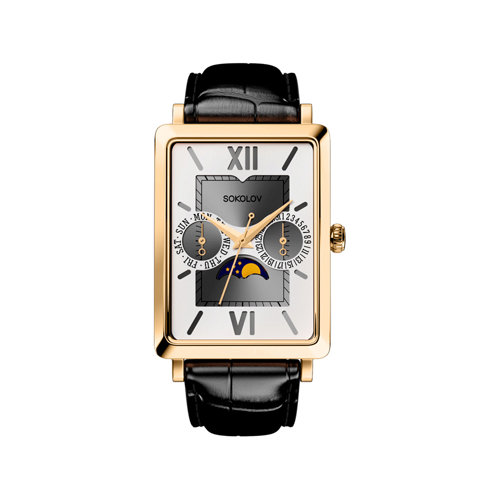 Мужские золотые часы (233.02.00.000.03.01.3) - фото №2