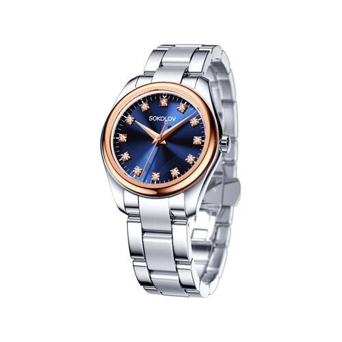 Женские часы из золота и стали (140.01.71.000.05.01.2) - фото