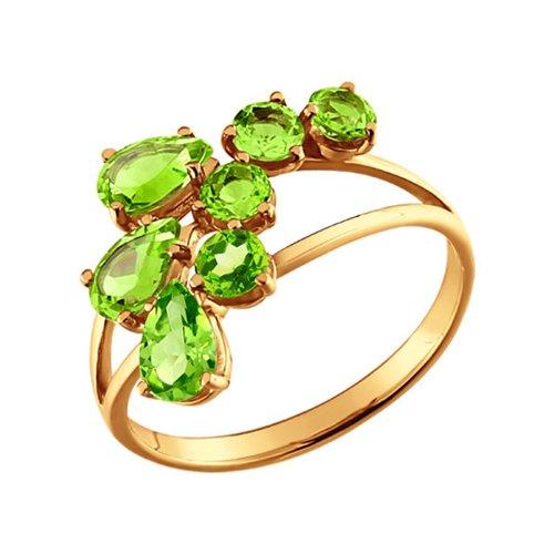 Изящное золотое кольцо с хризолитами SOKOLOV изящное золотое кольцо с хризолитами sokolov