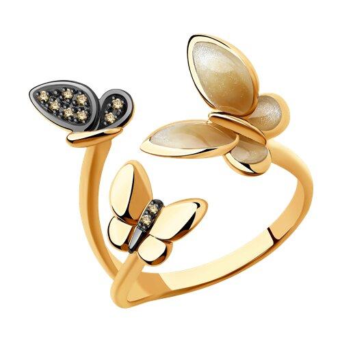 Кольцо из золота с бриллиантами 6019019 SOKOLOV фото