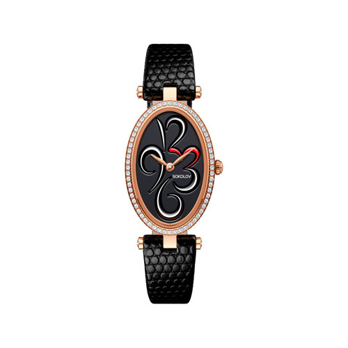 Женские золотые часы (236.01.00.001.04.01.2) - фото №2