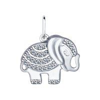 Подвеска «Слон» из серебра