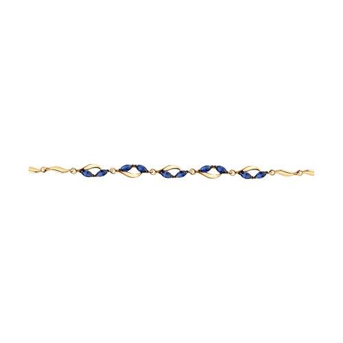Браслет из золота с фианитами (051031) - фото