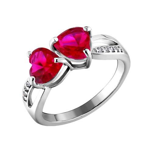 Кольцо SOKOLOV из серебра с красными фианитами золотое кольцо с красными фианитами sokolov