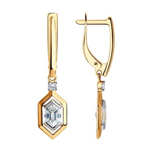 Серьги из золота со Swarovski Zirconia (81020435) - фото