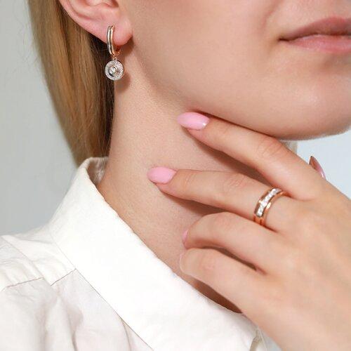 Серьги из золота с бриллиантами (1021186) - фото №5
