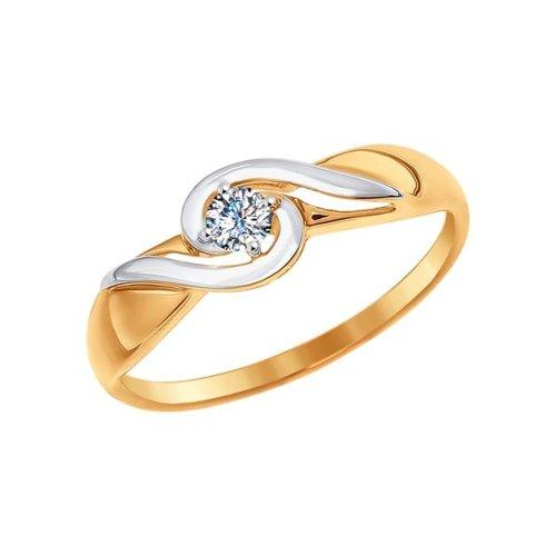 Кольцо из золота со Swarovski Zirconia (81010228) - фото