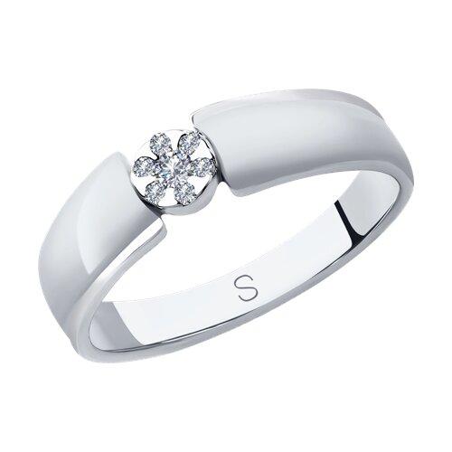 Кольцо из белого золота с бриллиантами (1011953) - фото