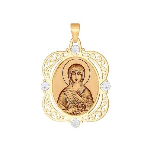 Золотая нательная иконка «Святая мученица Анастасия» SOKOLOV святая мученица анастасия романова