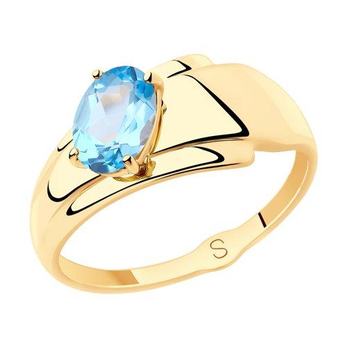 Кольцо из золота с топазом (715533) - фото