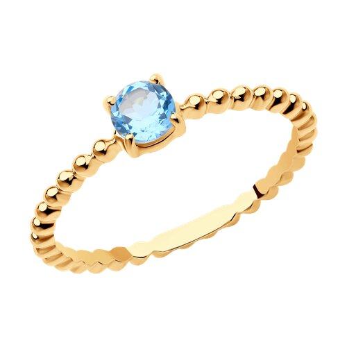 Кольцо из золота с топазом 716065 SOKOLOV фото