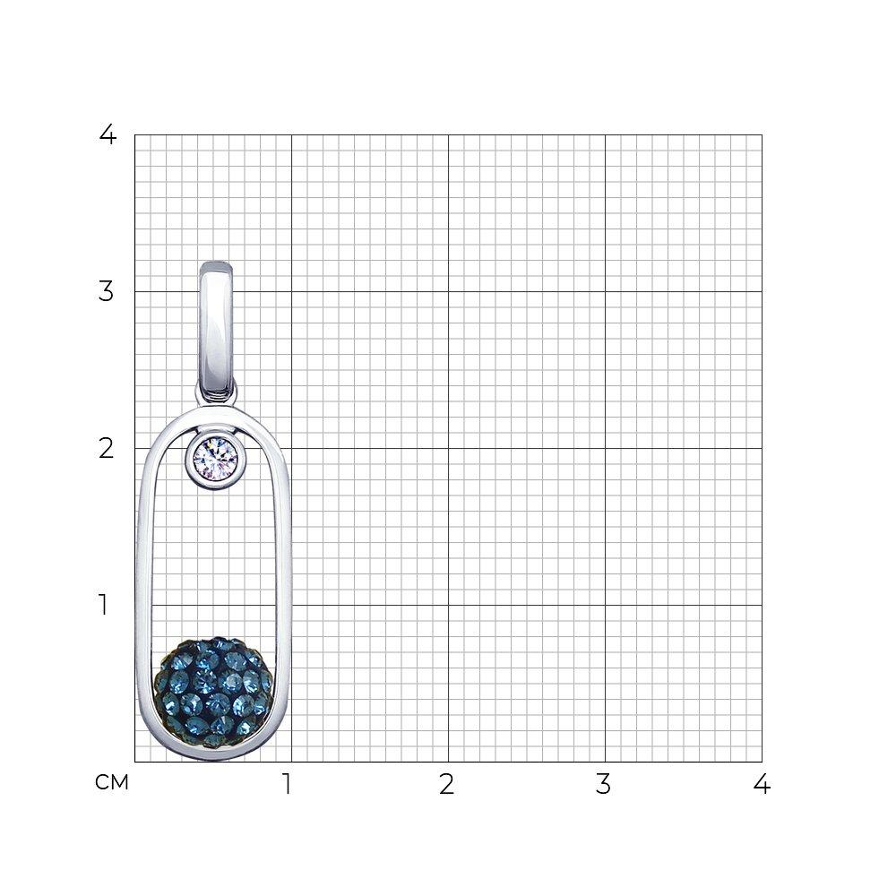 Подвеска SOKOLOV из серебра с кристаллами Swarovski и фианитом