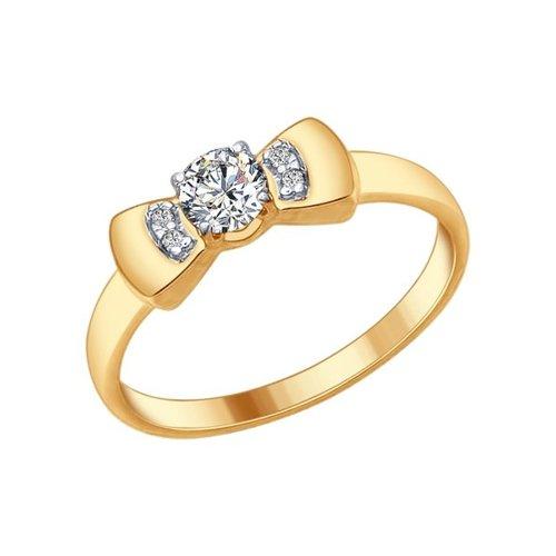 Позолоченное кольцо с бантиком SOKOLOV кольцо с бантиком sokolov из серебра