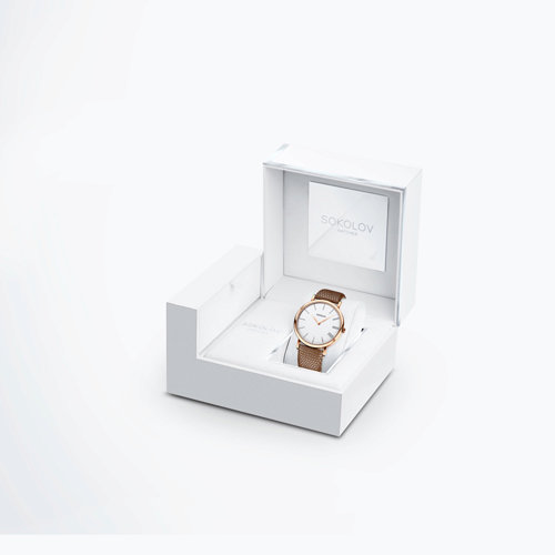 Женские золотые часы (204.01.00.000.01.03.2) - фото №4