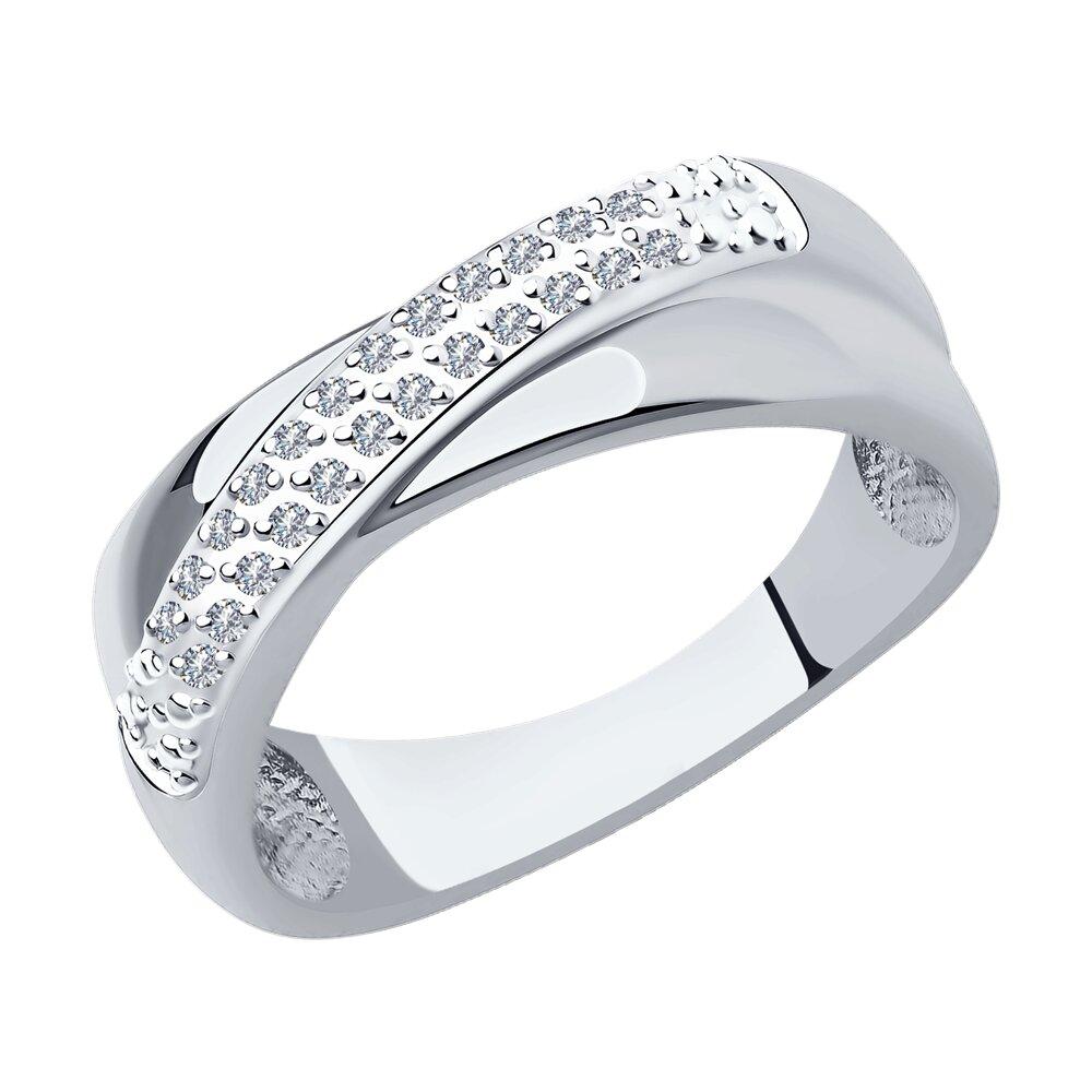 Кольцо SOKOLOV из белого золота с родированием с бриллиантами