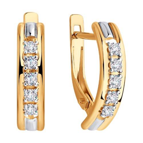 Серьги из золота со Swarovski Zirconia (81020426) - фото №2