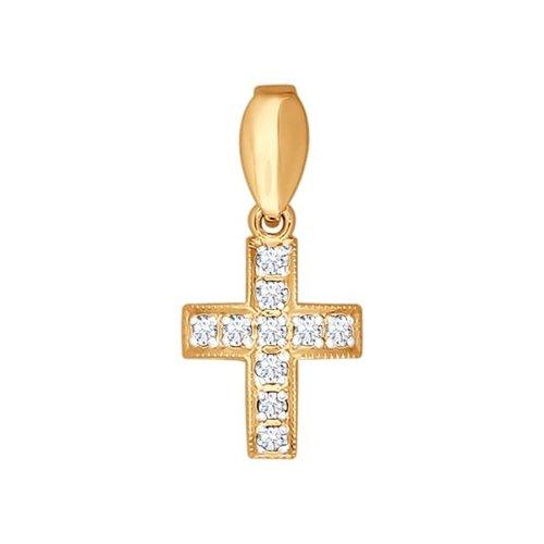 Декоративный крест c бриллиантами SOKOLOV
