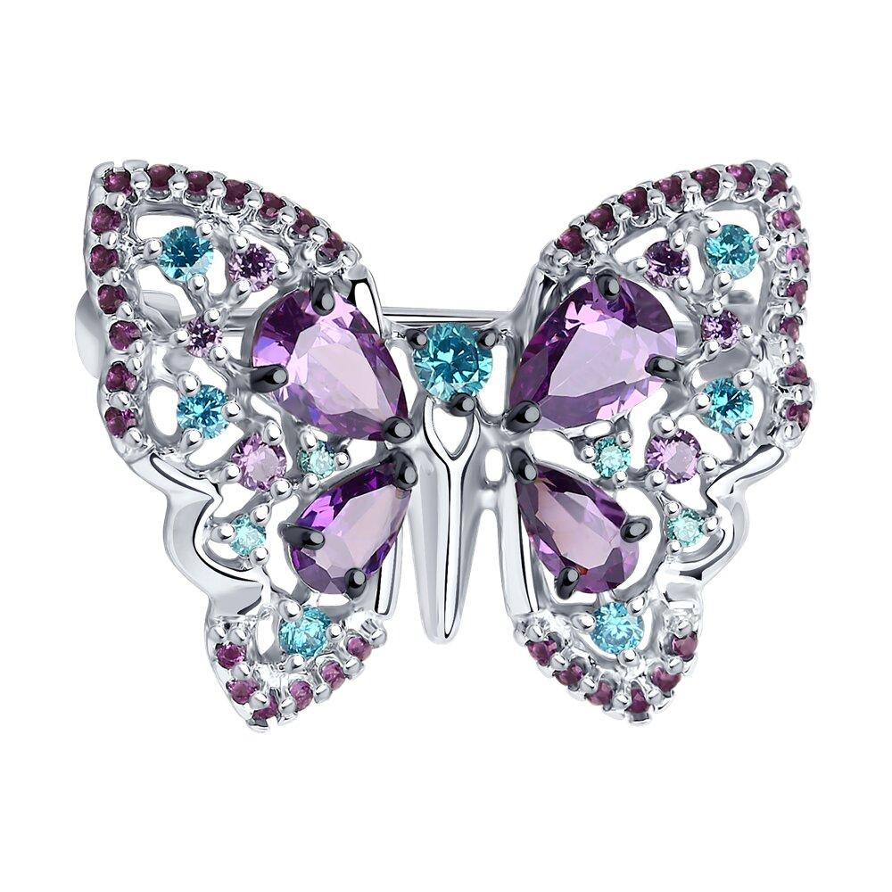 Брошь «Бабочка» SOKOLOV