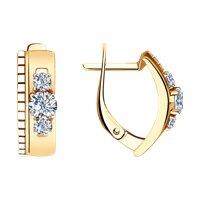 Серьги из золота с алмазной гранью