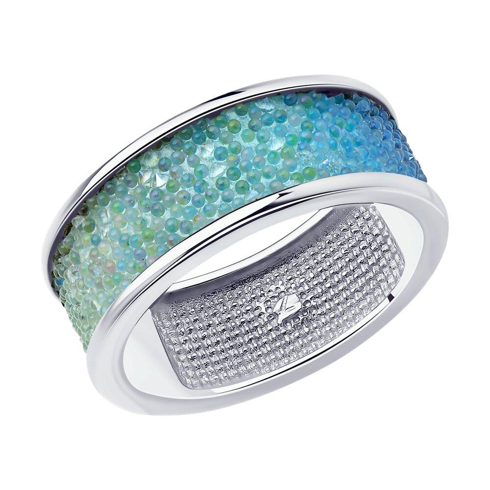 Фото - Кольцо SOKOLOV из серебра с кристаллом Swarovski sokolov кольцо из серебра с чёрным кристаллом swarovski 94012037 размер 19 5