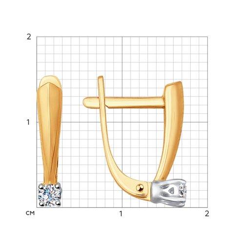 Серьги из золота с бриллиантами (1020935) - фото №2