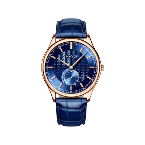 Мужские золотые часы (237.01.00.000.07.04.3) - фото №2