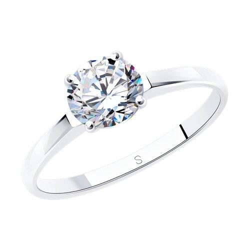 Фото - Серебряное помолвочное кольцо с фианитом SOKOLOV серебряное кольцо с сердечками sokolov