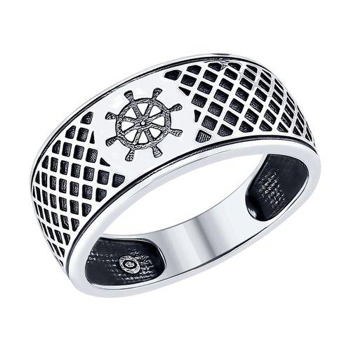 Серебряное кольцо «Штурвал»