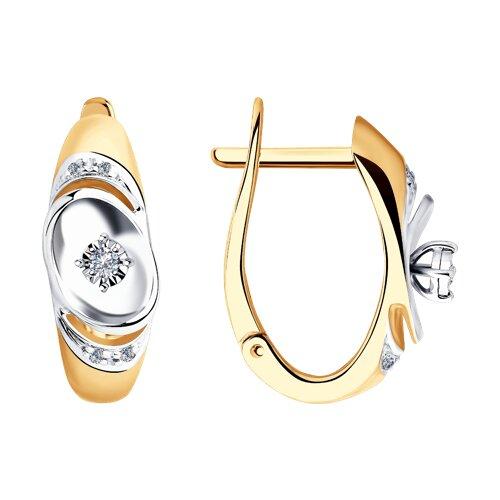 Серьги из золота с бриллиантами (1021340) - фото