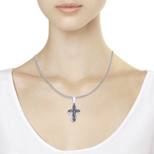 Крест из чернёного серебра (95120060) - фото №3