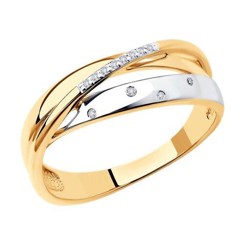 Кольцо из золота с бриллиантами (1011615) - фото