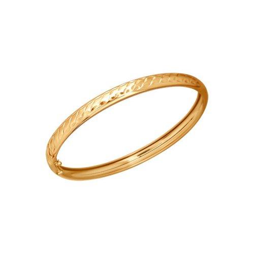 Классический жесткий браслет с алмазной гранью SOKOLOV
