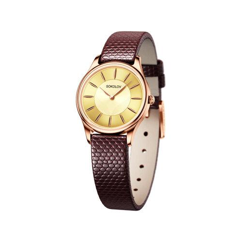 Женские золотые часы (238.01.00.000.05.04.2) - фото