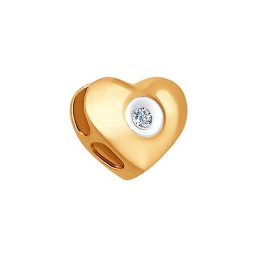 Подвеска-шарм из золота «Сердце»